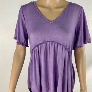 NWT Francesca's purple flowy top